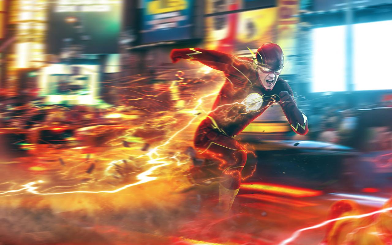 Desktop Wallpapers The Flash 2014 TV series Heroes comics The Flash hero Running barry allen Fantasy film superheroes Run Movies
