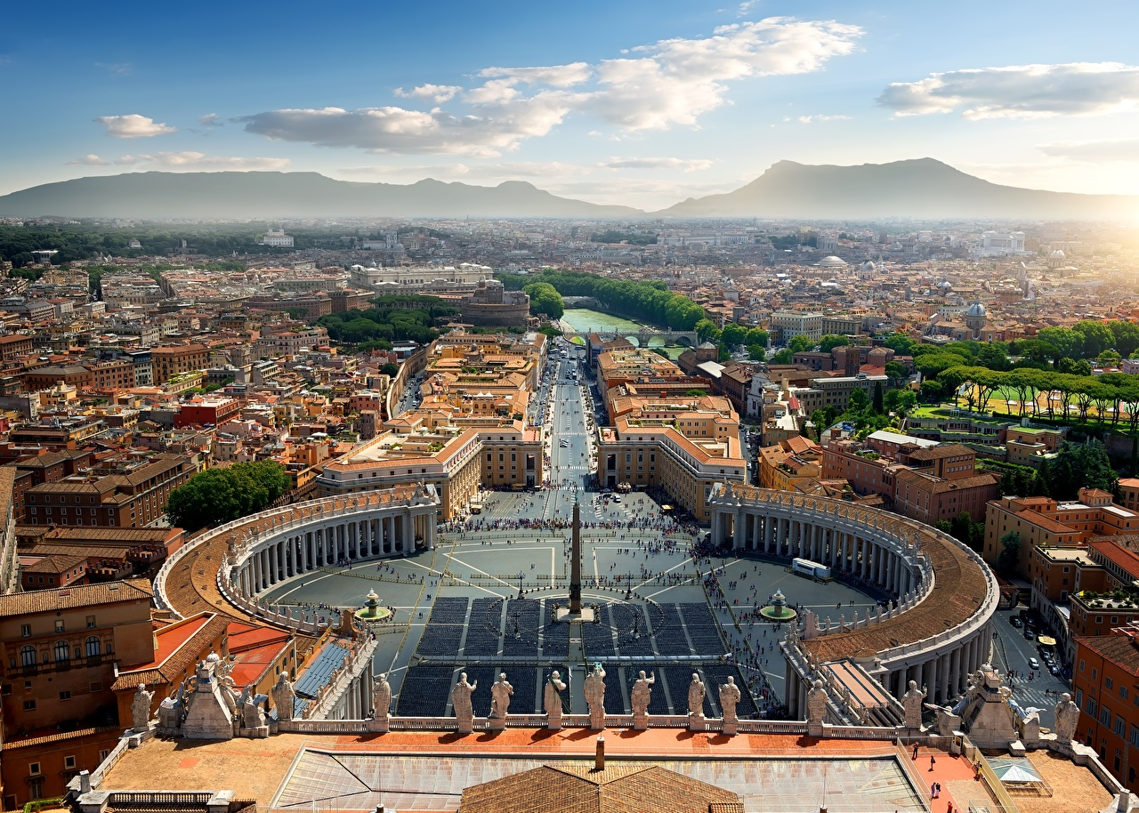 Images Rome Italy Town square Vatican From above Cities