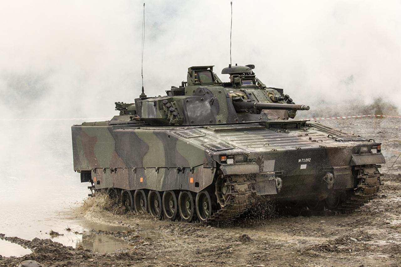 Fondos de Pantalla VCI Combat Vehicle 90, Sweden Barro Ejército descargar imagenes