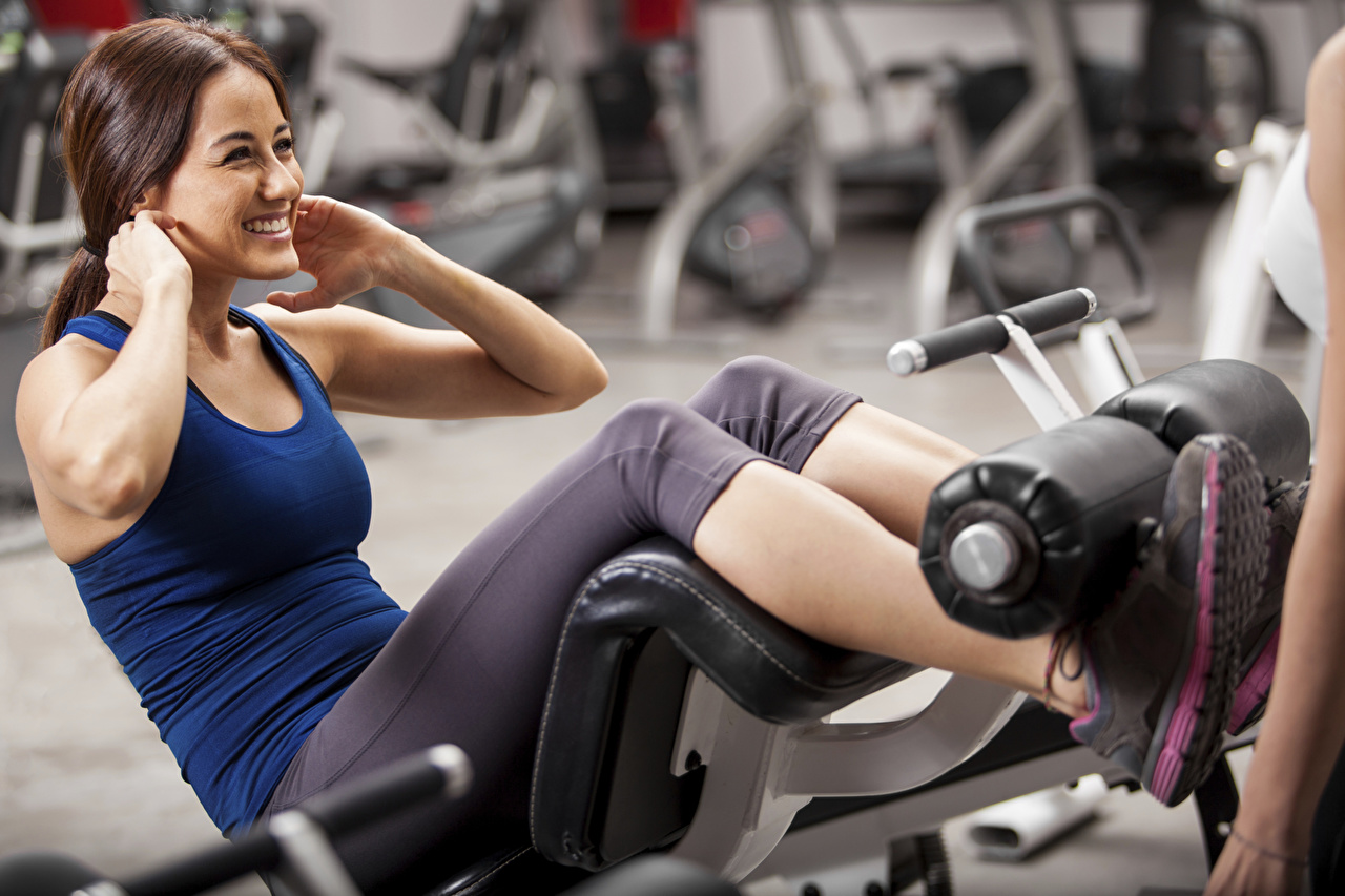 Wallpaper Brown Haired Physical Exercise Gym Abs Sportswear