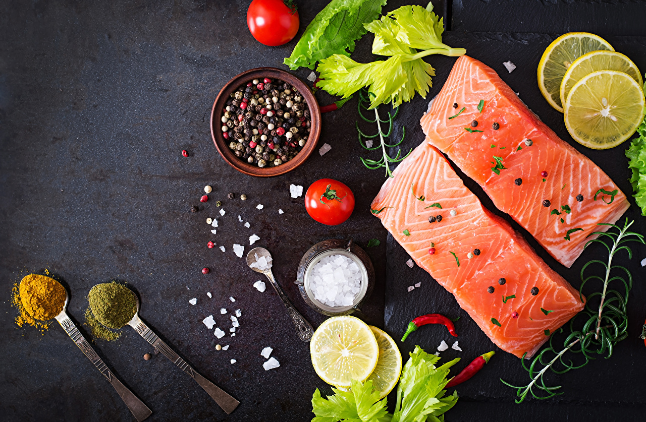 Image Tomatoes Lemons Fish - Food Food Spoon Seasoning Spices