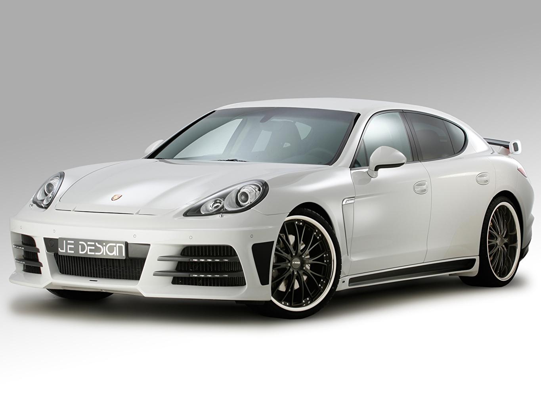 Photos Porsche 2012 Je Design Panamera 970 White Cars auto automobile