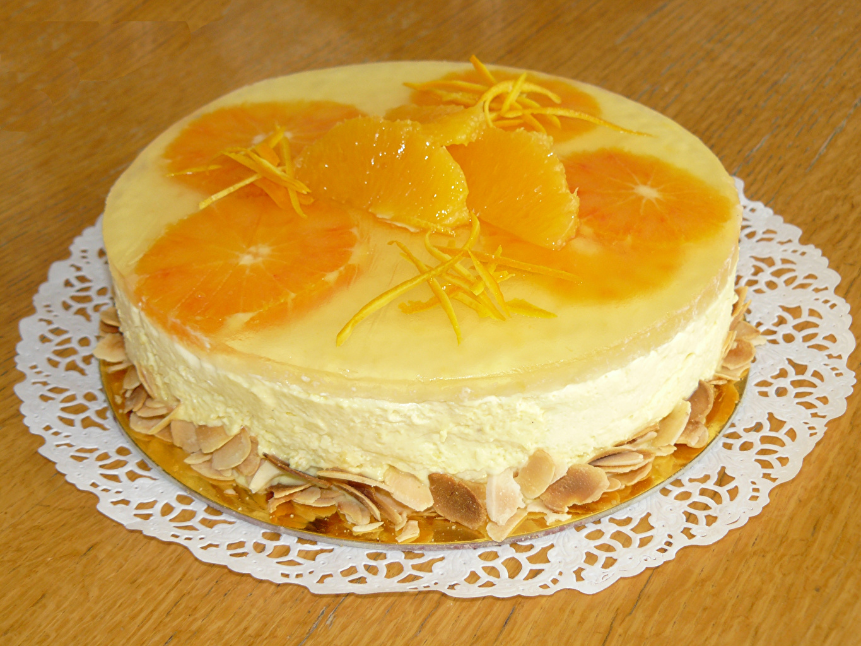 Photo Torte Orange fruit Food Sweets Design Wood planks Cakes confectionery boards