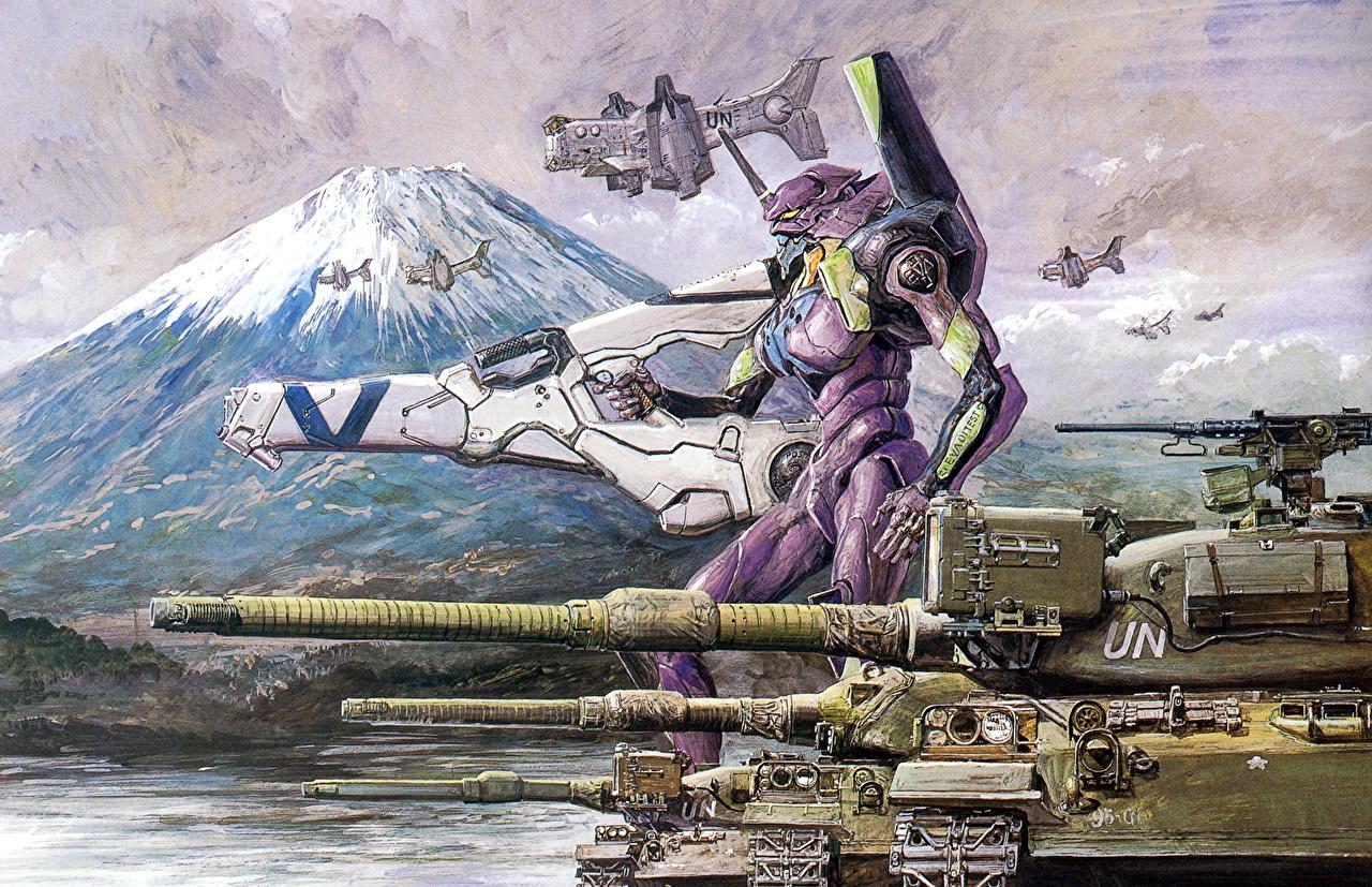 壁紙 新世紀エヴァンゲリオン 戦車 アニメ ダウンロード 写真