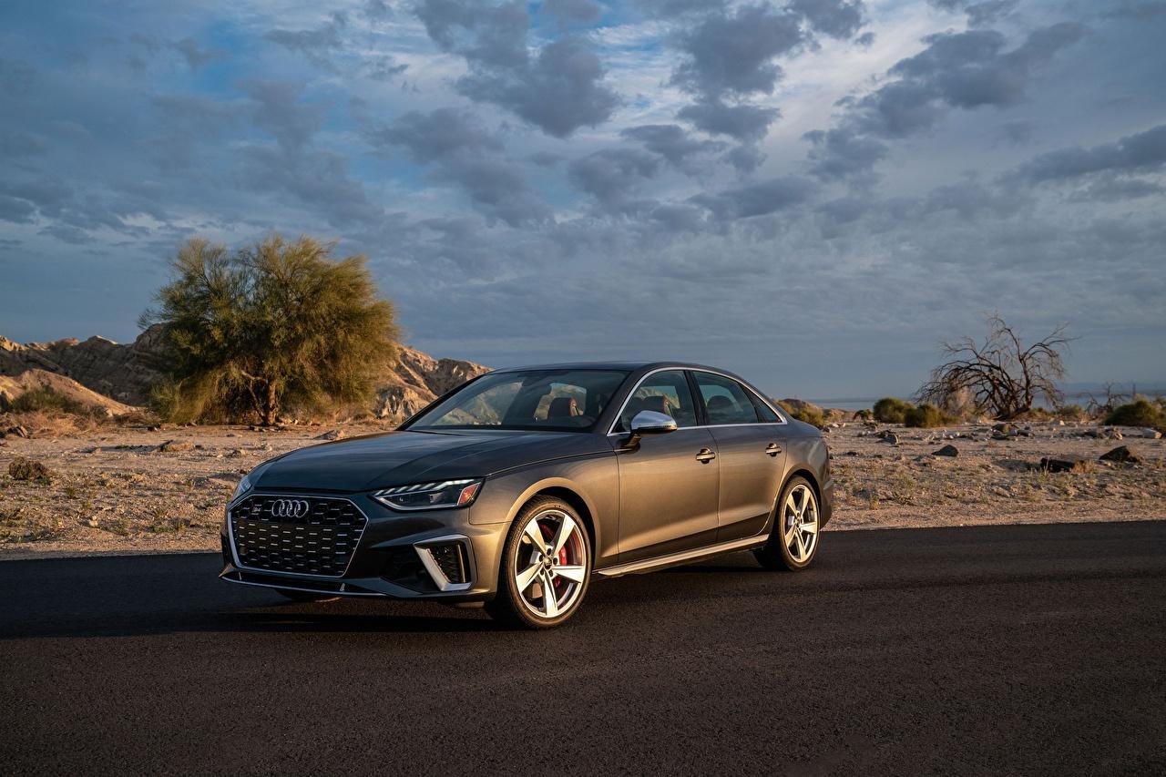 Picture Audi S4, TFSI, B9, 2020 Sedan gray Metallic automobile Grey auto Cars