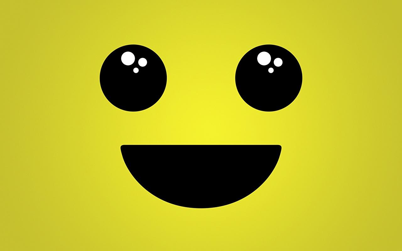 Immagine Occhi Faccine Sorriso Sfondo colorato smiley