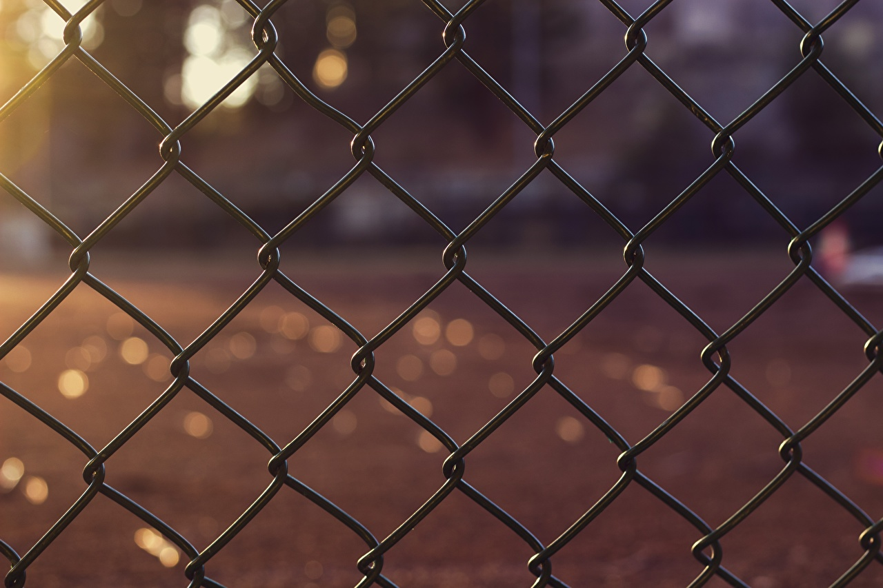 Pictures Bokeh Fence Closeup blurred background