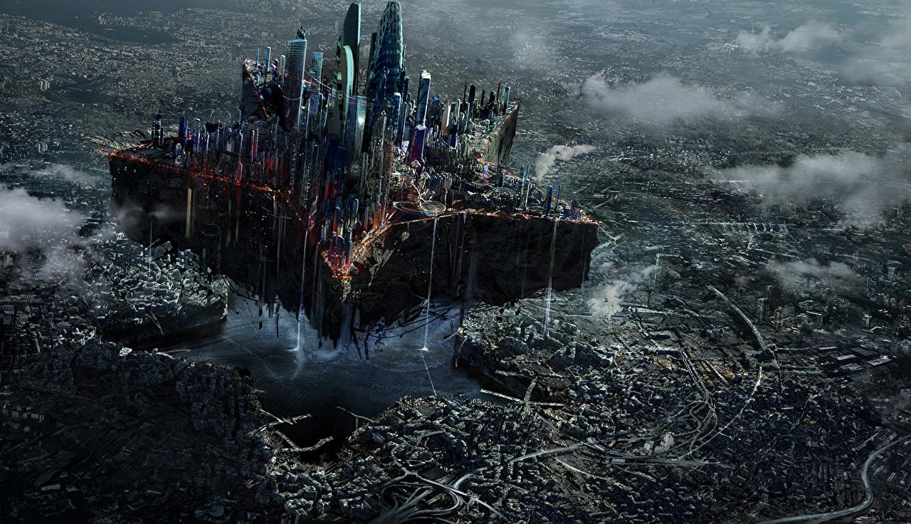 、モスクワ、廃墟、幻想的な世界、、ファンタジー、都市、