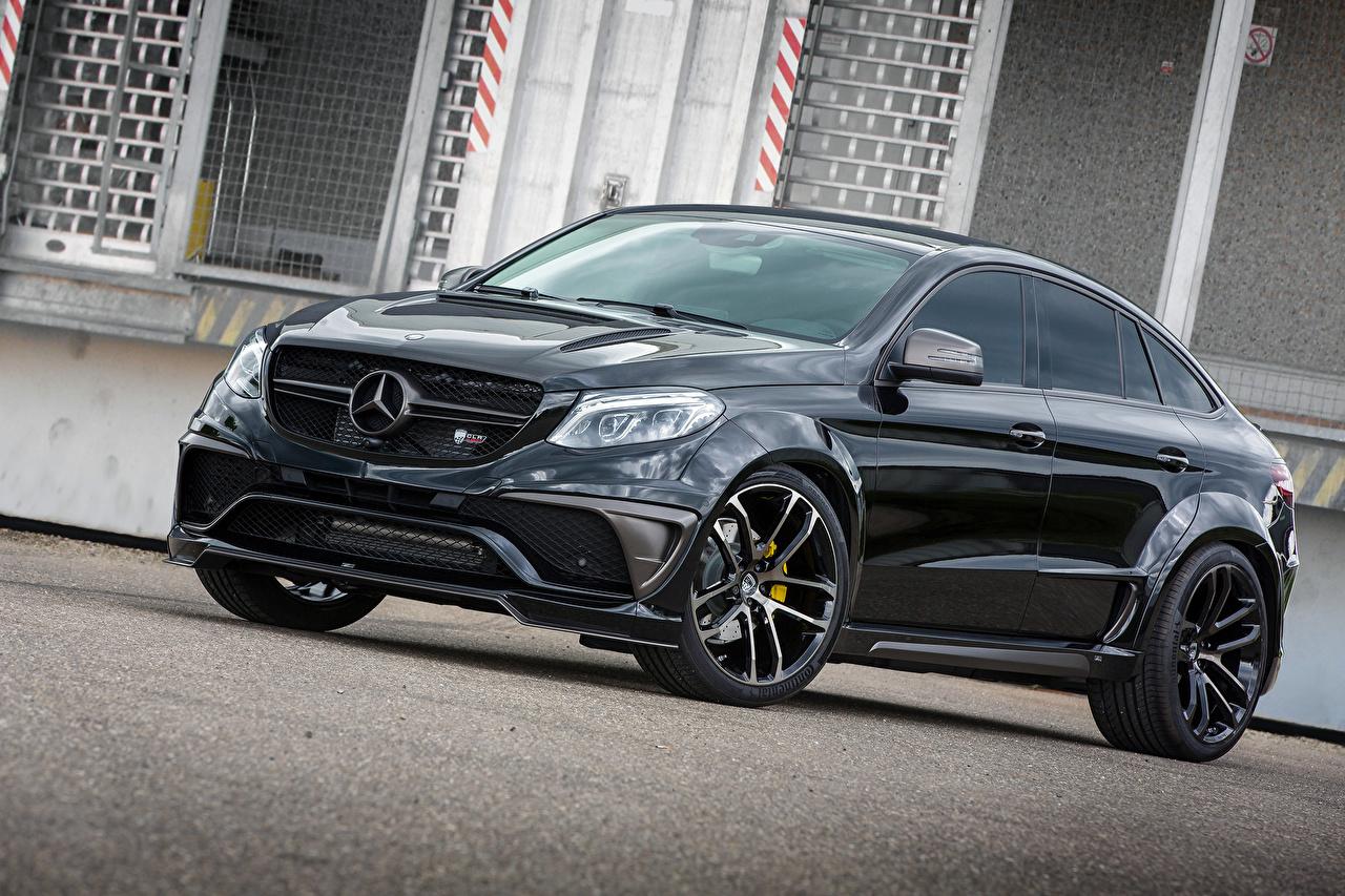 Wallpaper Mercedes-Benz Lumma Design C292 GLE-Class Coupe Black Cars Metallic auto automobile