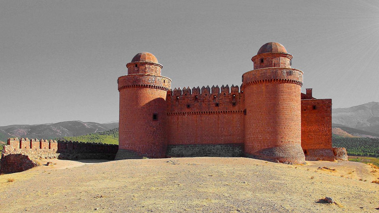 Desktop Wallpapers Spain La Calahorra castle Andalucia Cities Castles
