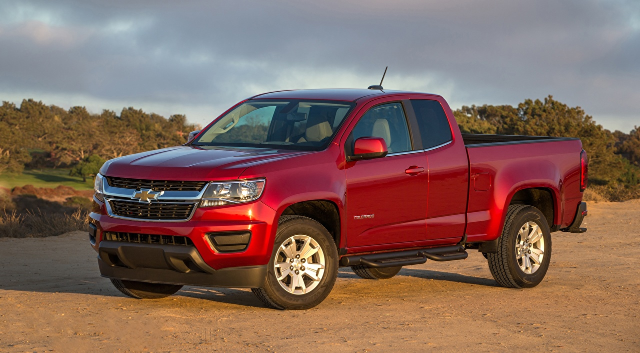 Picture Chevrolet Colorado, LT Extended Cab, 2014 Pickup Red auto Cars automobile