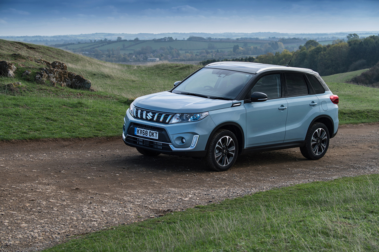 Desktop Wallpapers Suzuki - Cars 2018 Vitara SZ5 Light Blue automobile auto Cars