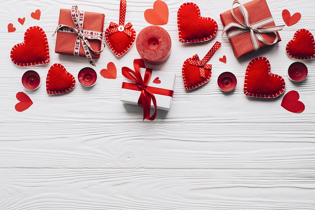 Pictures Valentine's Day Heart present Template greeting card Gifts
