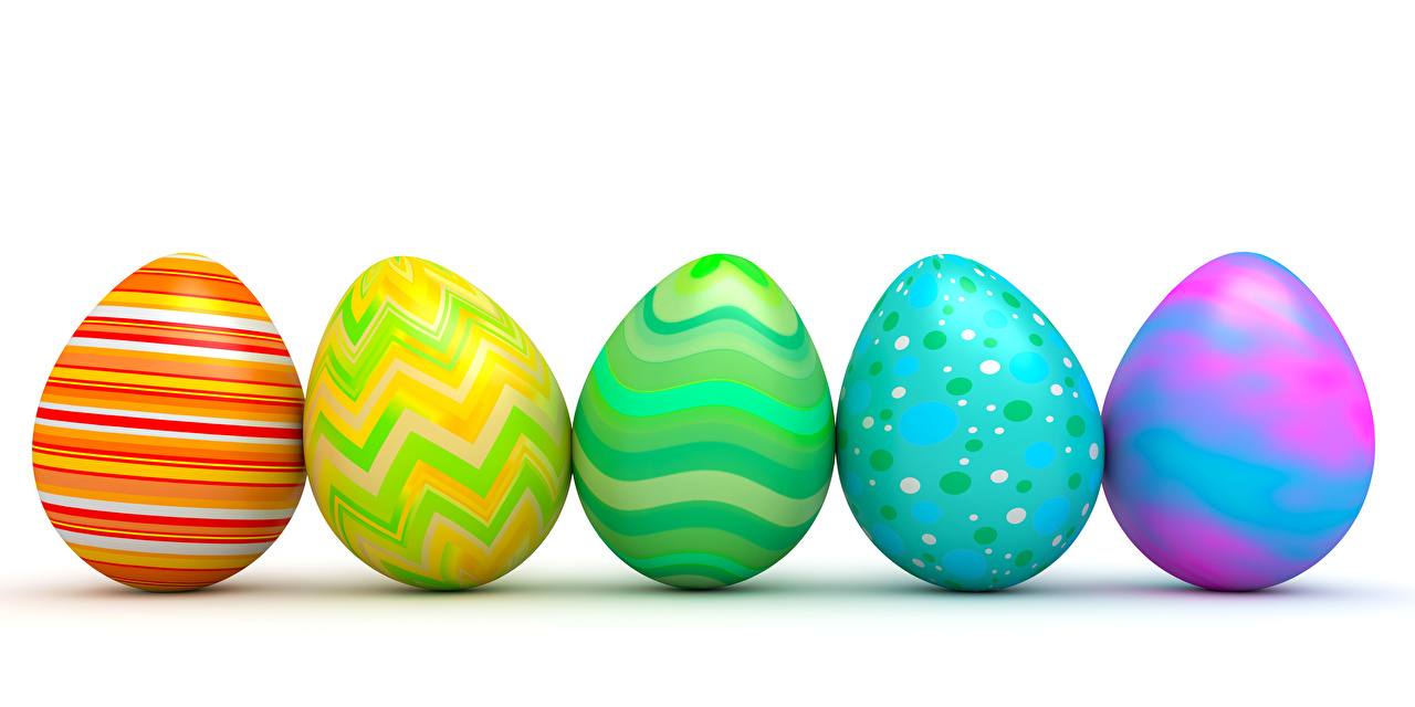 Picture Easter Eggs Holidays White background Design