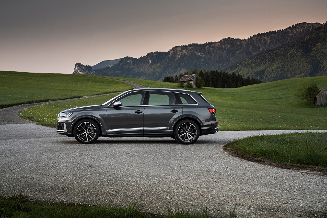 Images Audi Crossover SQ7 TFSI, Worldwide, 2020 gray Cars Side Metallic CUV Grey auto automobile