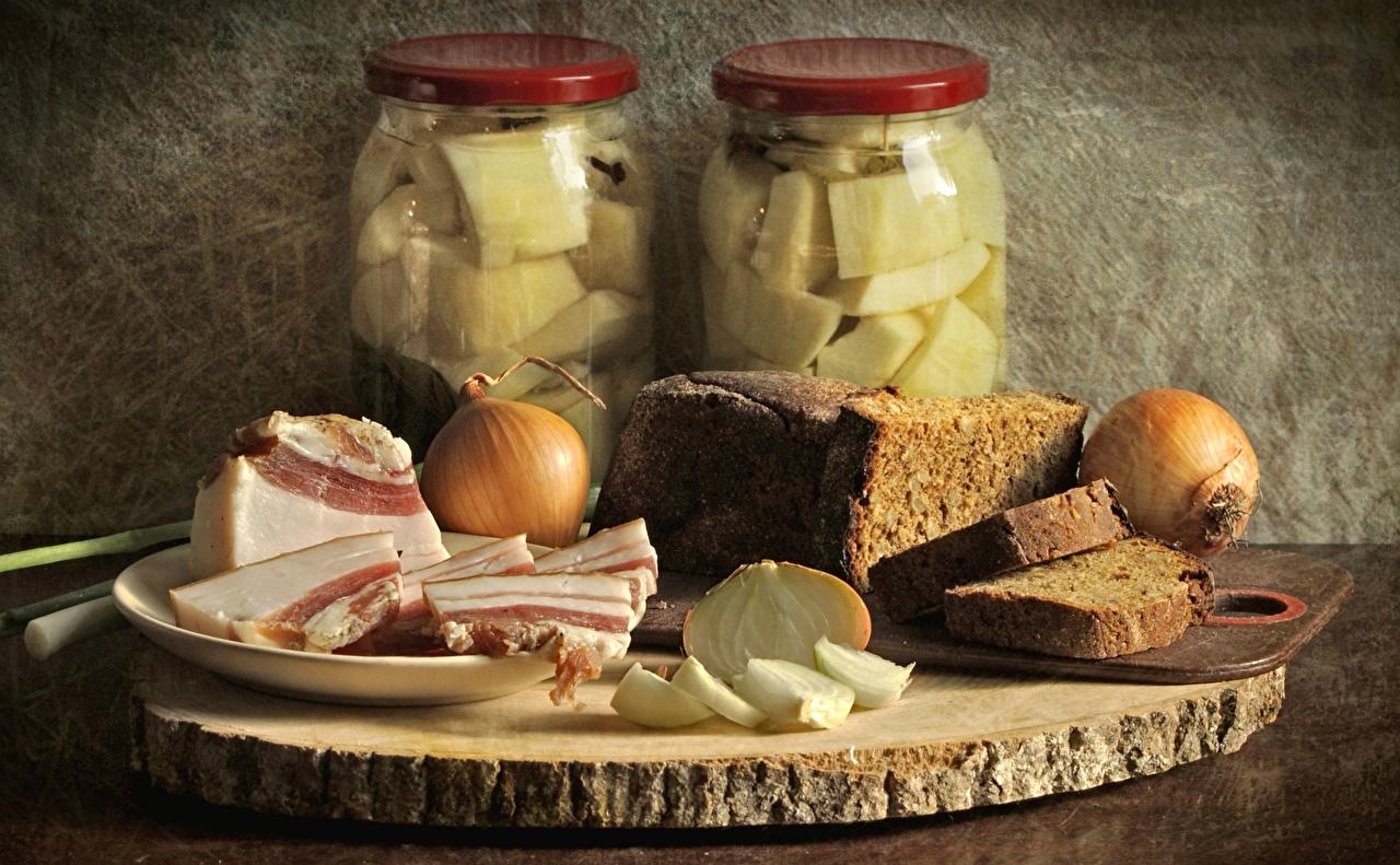 Foto Zwiebel Salo - Lebensmittel Brot Weckglas Lebensmittel Einweckglas