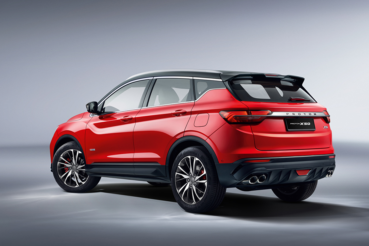Desktop Wallpapers Geely Crossover Proton X50, 2020 Red Cars Metallic CUV auto automobile