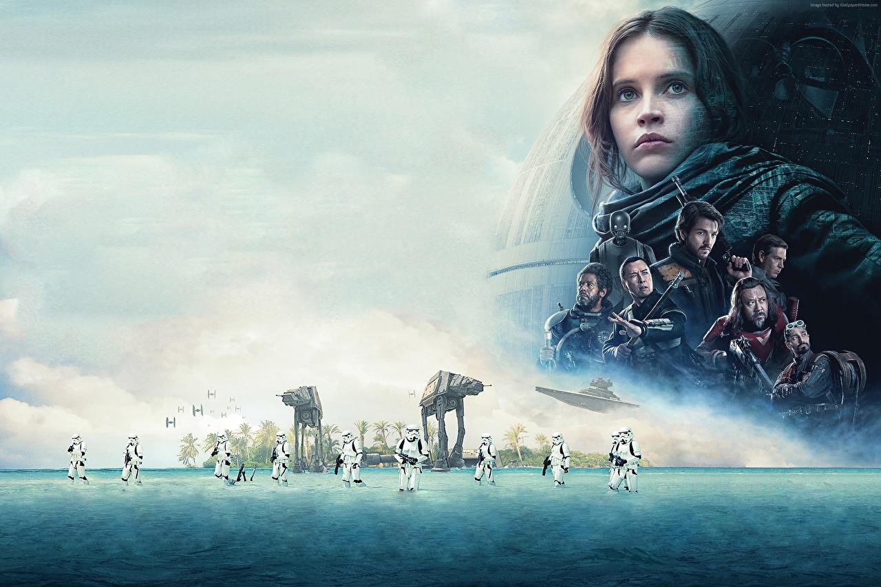 Wallpaper Star Wars - Movies Rogue One: A Star Wars Story Felicity Jones Clone trooper Movies Celebrities film