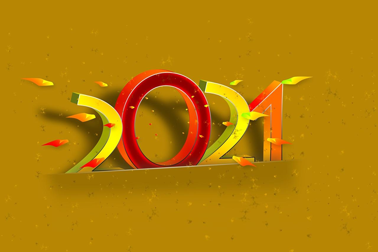 Desktop Hintergrundbilder 2021 Neujahr Farbigen hintergrund