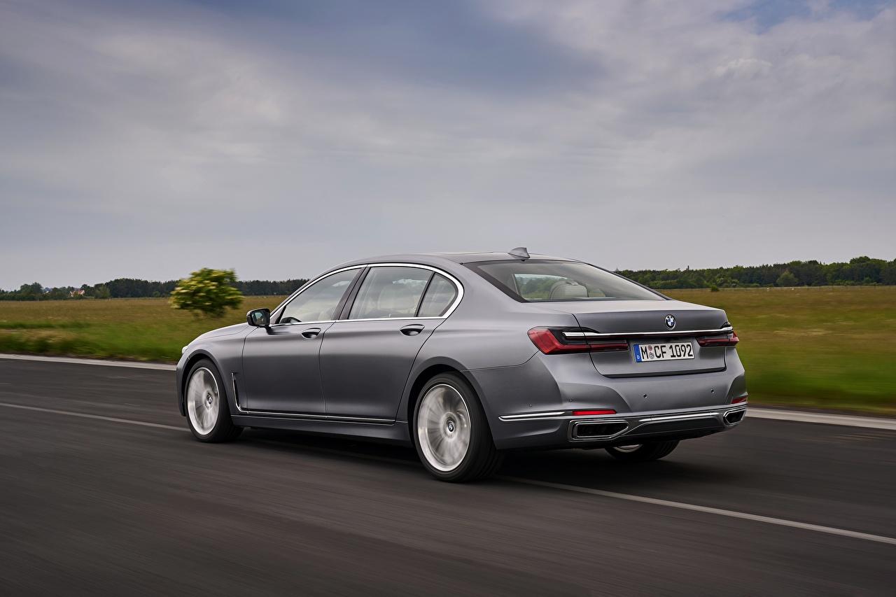 Photo BMW 7 series, G11/G12 Sedan gray Roads Motion Cars Metallic Grey moving riding driving at speed auto automobile