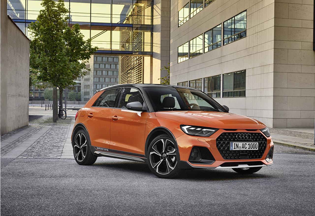 Pictures Audi 2019 A1 citycarver edition one Worldwide Orange Metallic automobile Cars auto