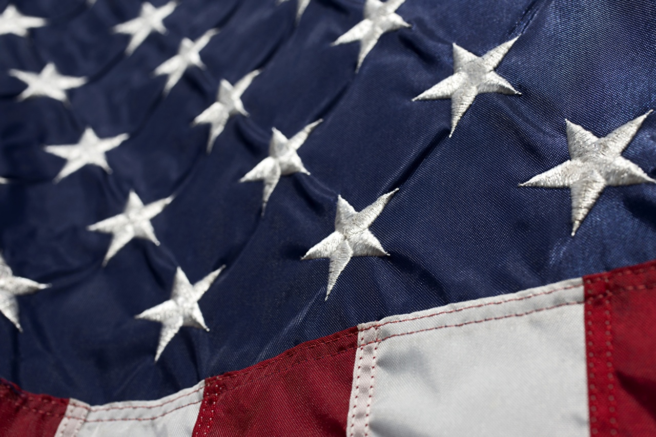 Foto USA Piccole stelle Bandiera Da vicino stati uniti