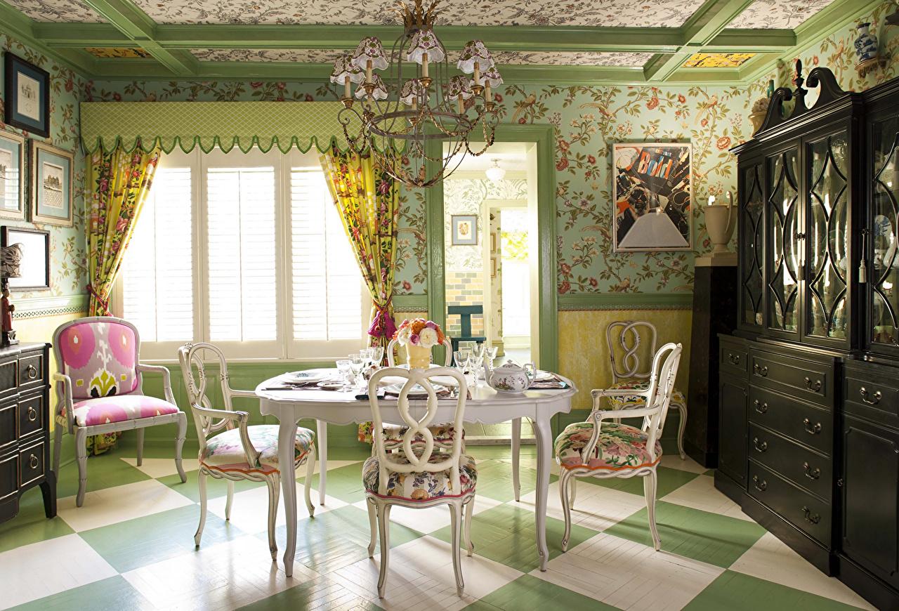 Wallpaper Living room Interior Chair Table Design Curtain