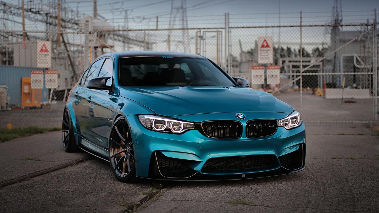 Wallpaper BMW M3 Light Blue Cars Metallic auto automobile