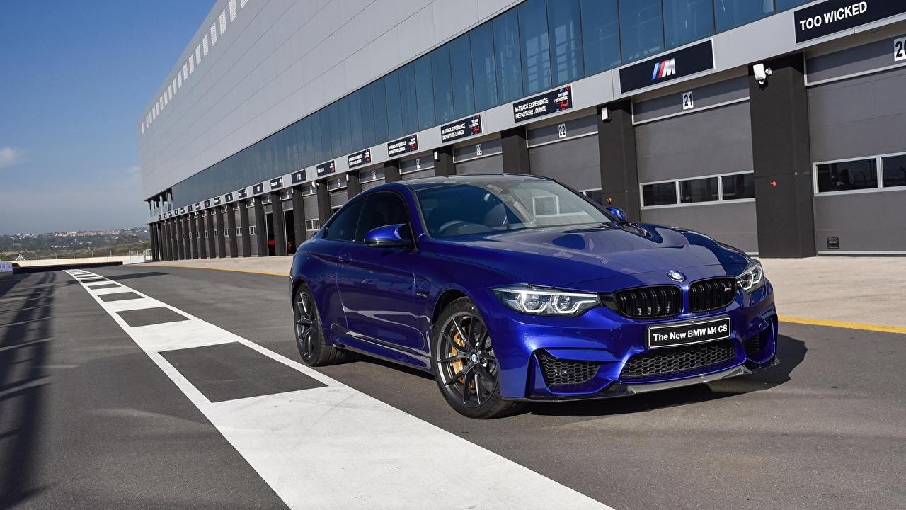 Photo BMW M4 CS 2017 Blue Cars auto automobile