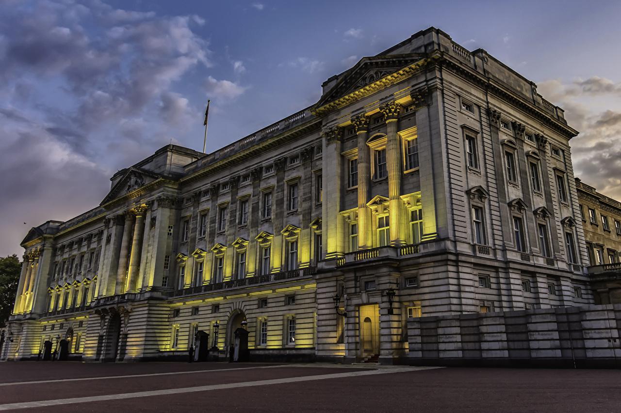 Inglaterra Tarde Buckingham Palace Londres Palácio Raios de luz Cidades