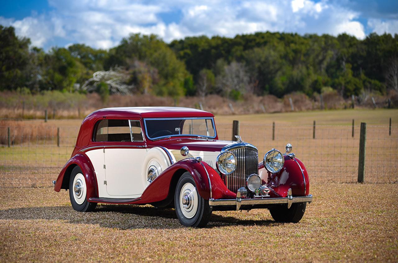 Photo Bentley vintage Metallic automobile Retro antique Cars auto