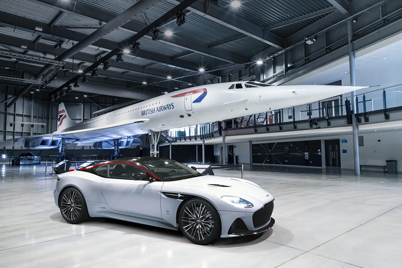 Aston Martin DBS Superleggera Edition Concorde Blanc voiture, automobile Voitures