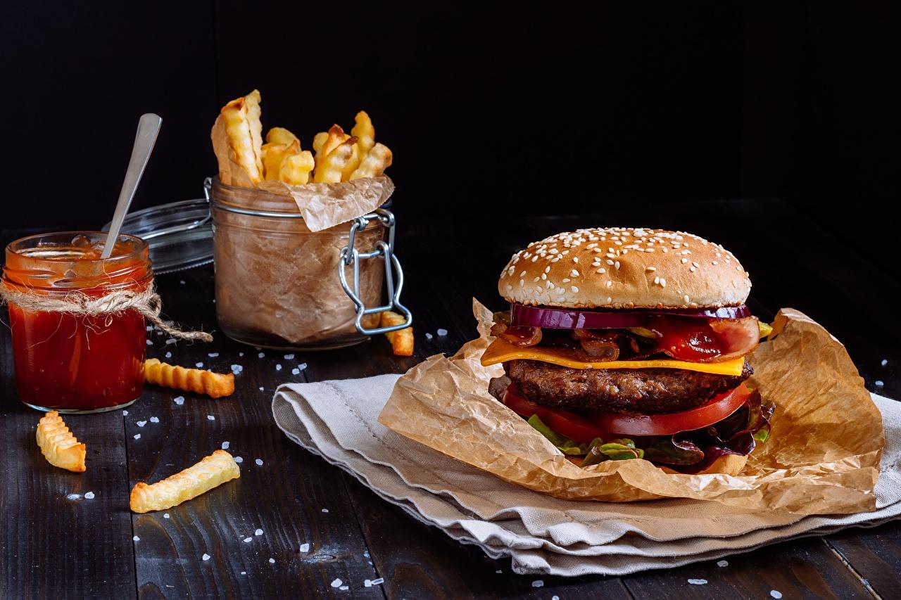 Fotos von Hamburger Fast food das Essen Burger Lebensmittel