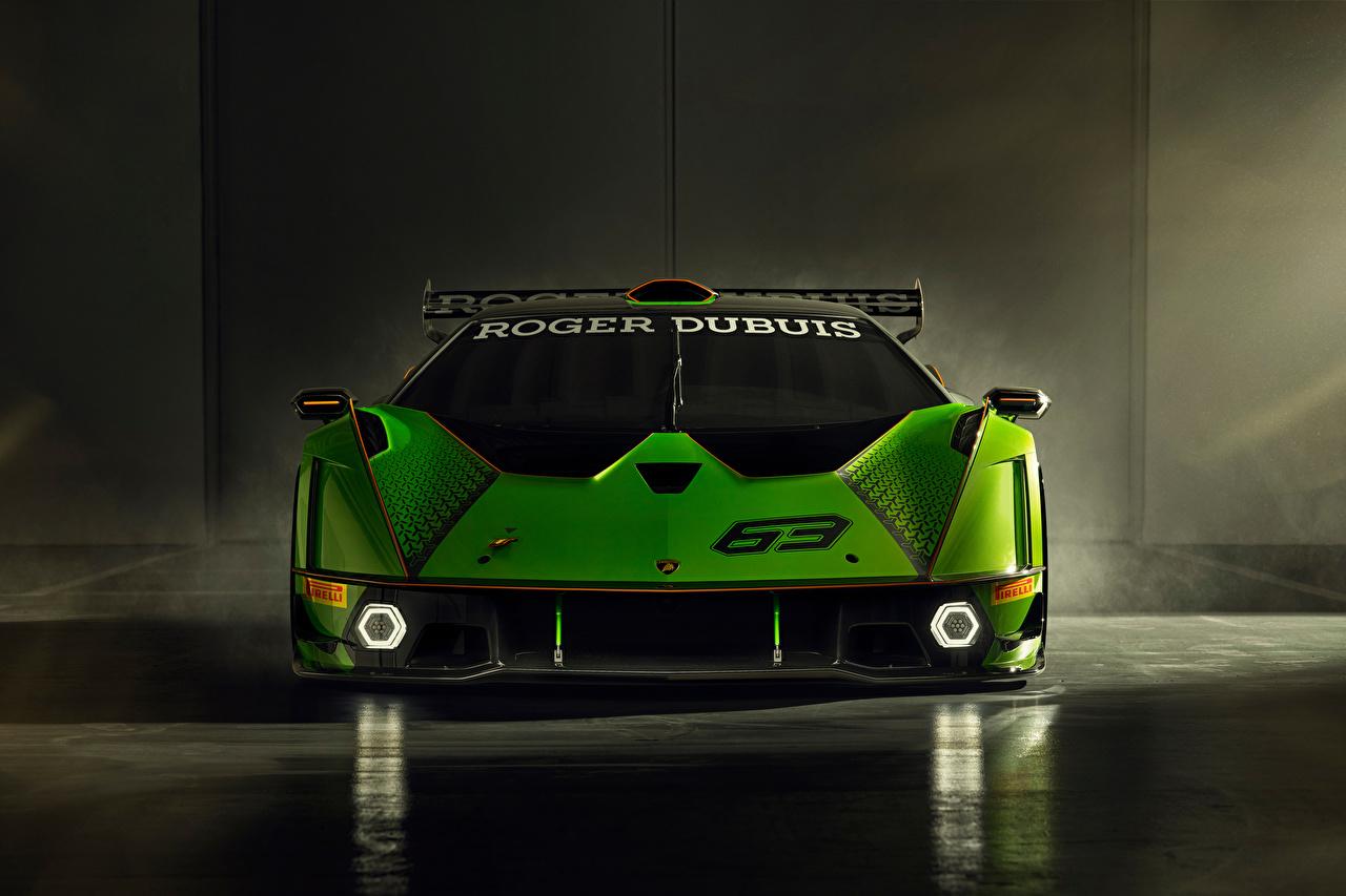 Bilder von Lamborghini Essenza SCV12, 2020 Grün Vorne automobil auto Autos