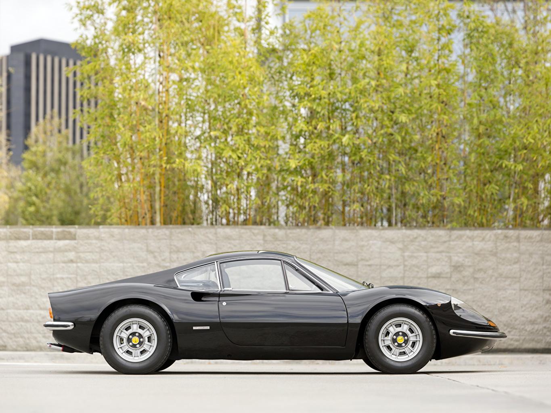 Papeis De Parede Ferrari Black Dino 246 Gt Preto Lateralmente Carros Baixar Imagens