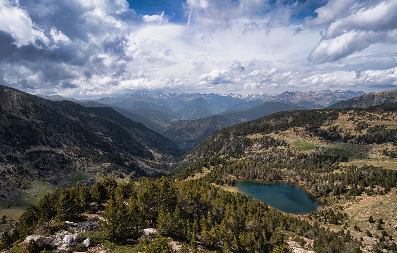Fotos von Andorra Vall del Madriu-Perafita-Claror Berg Natur Parks Landschaftsfotografie Wolke Gebirge Park