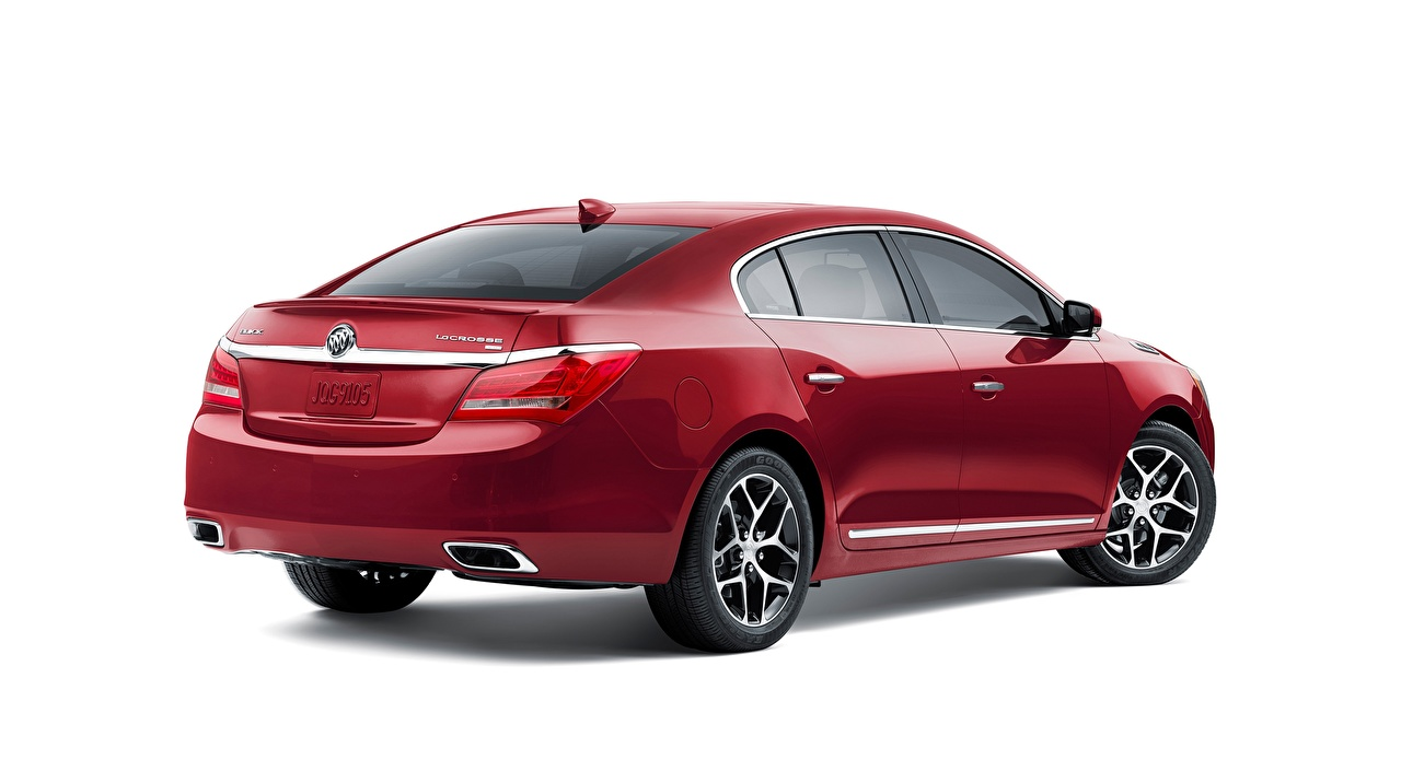 Pictures Buick LaCrosse, Sport Touring, 2015 Sedan Red auto White background Cars automobile