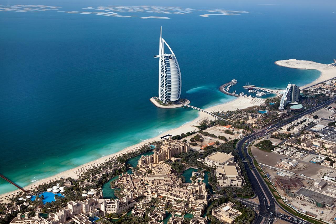 Fotos Dubai VAE Jumeirah Al Naseem Meer Hotel Küste Von oben Städte