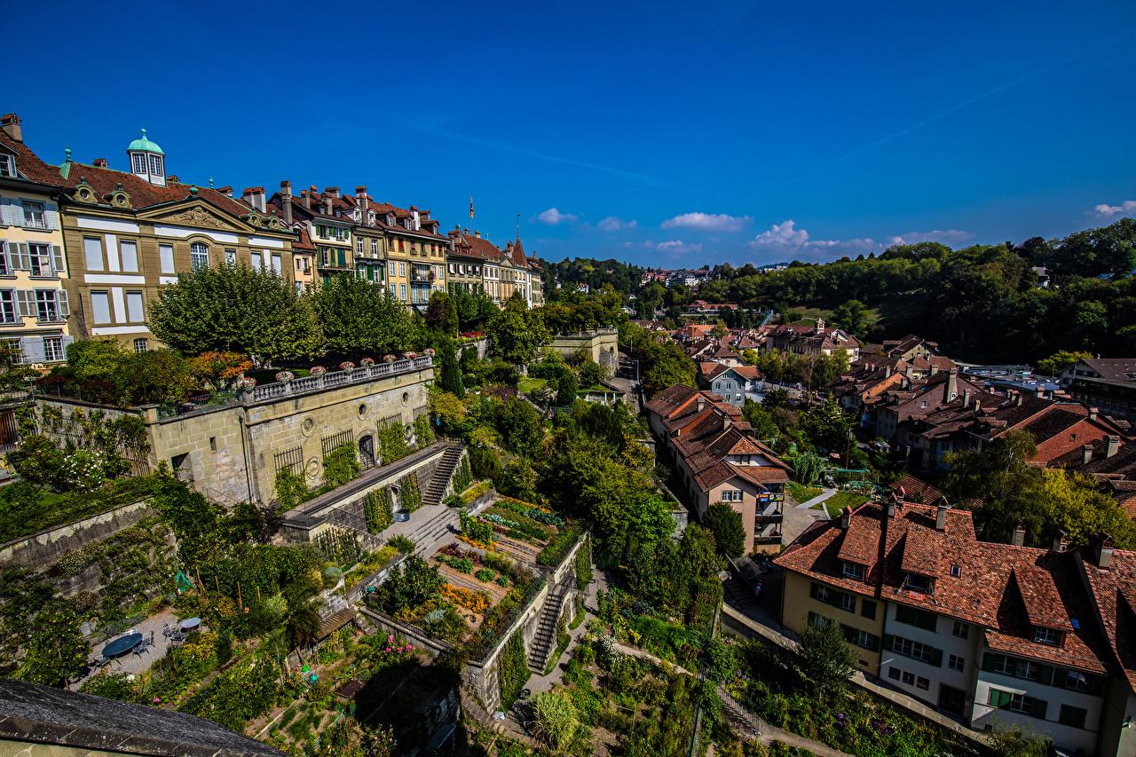 Desktop Wallpapers Bern Switzerland Sky Cities Building Houses