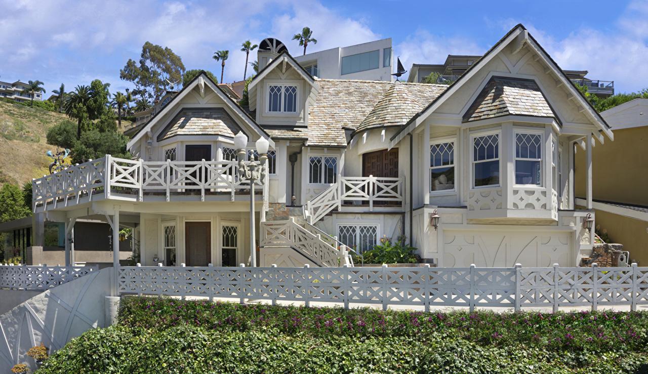 Images California USA Laguna Beach Fence Mansion Houses Cities Design Building