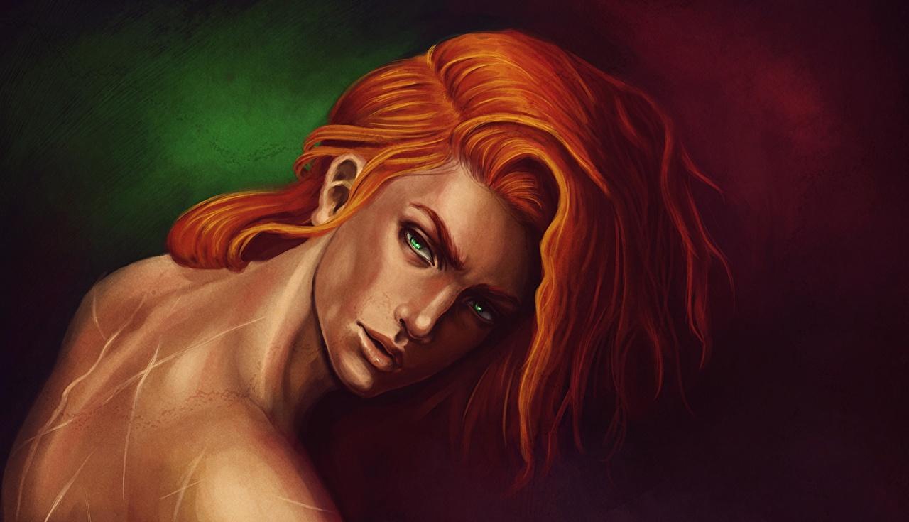 Afbeelding Boekillustraties jongeman The Name Of The Wind, Kvothe Haar Fantasy gember kleur Kijkt Jonge man tiener jongen Rood oranje