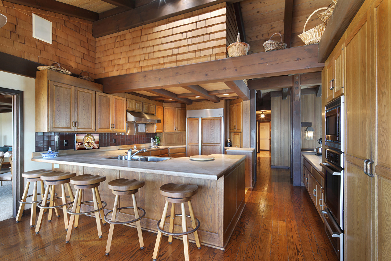 Pictures Kitchen Interior Table Wooden Design from wood