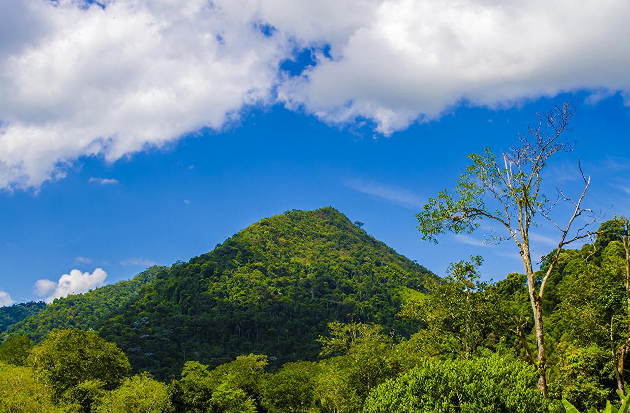 Sfondi Brasile Bahia Natura Montagne Cielo foresta Nuvole montagna Foreste Nubi