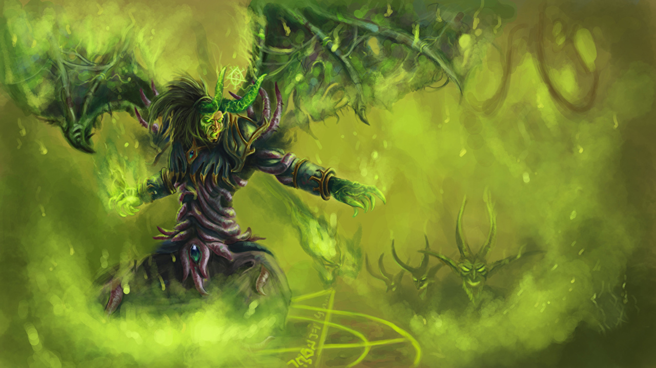 Fondos De Pantalla World Of Warcraft Monstruos Warlock Ala