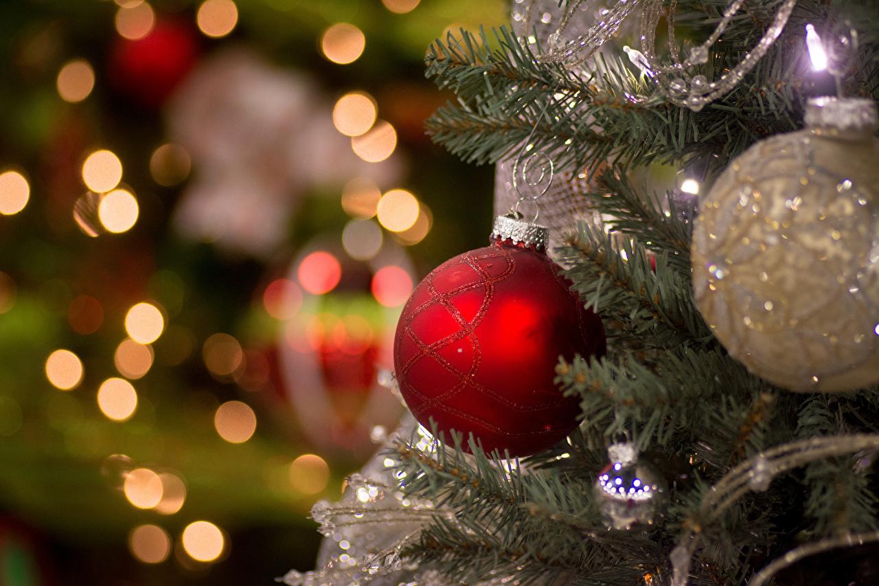 Photos New year Balls Holidays Christmas