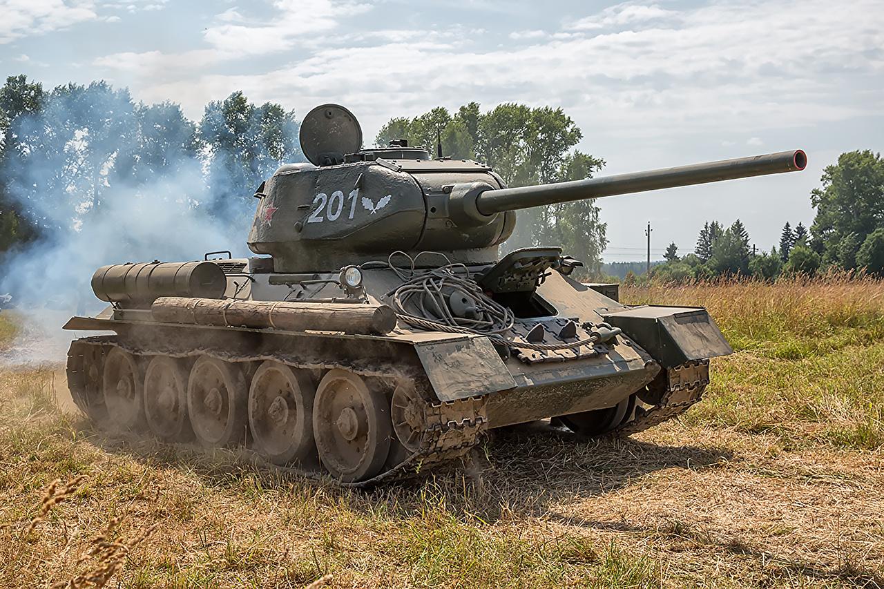 Hintergrundbilder T-34 Panzer Russische Heer russisches russischer