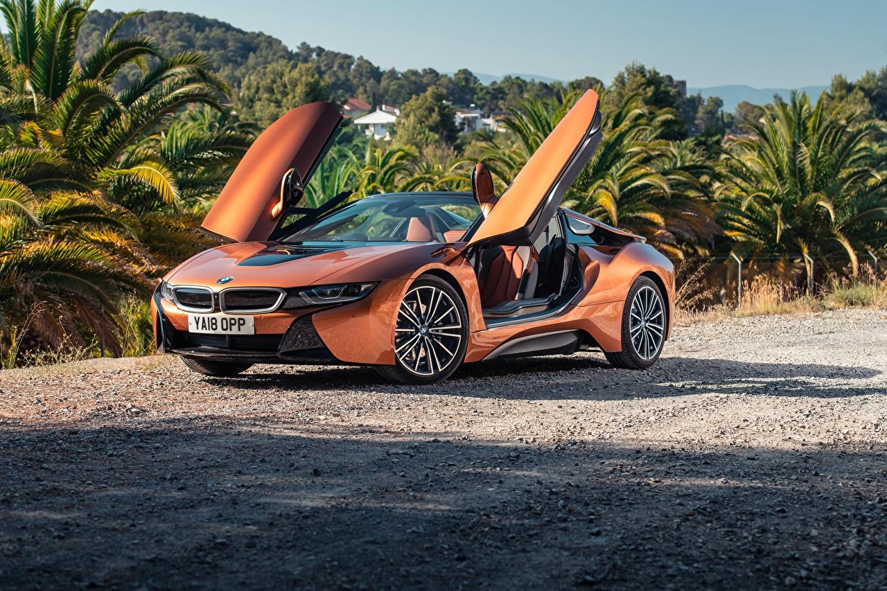 Photo BMW 2018 i8 Roadster Orange Cars auto automobile
