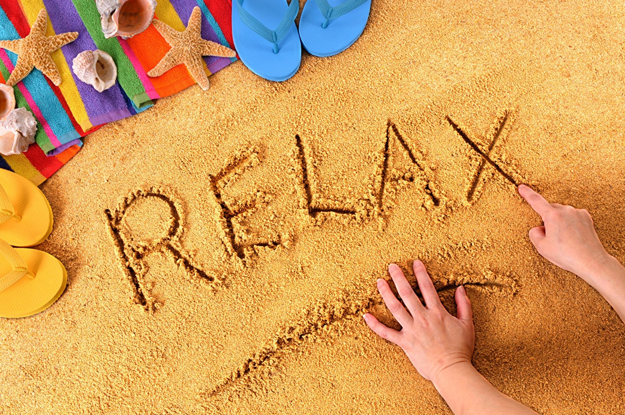 Images English Rest Sand Word - Lettering Hands relax Resting text lettering