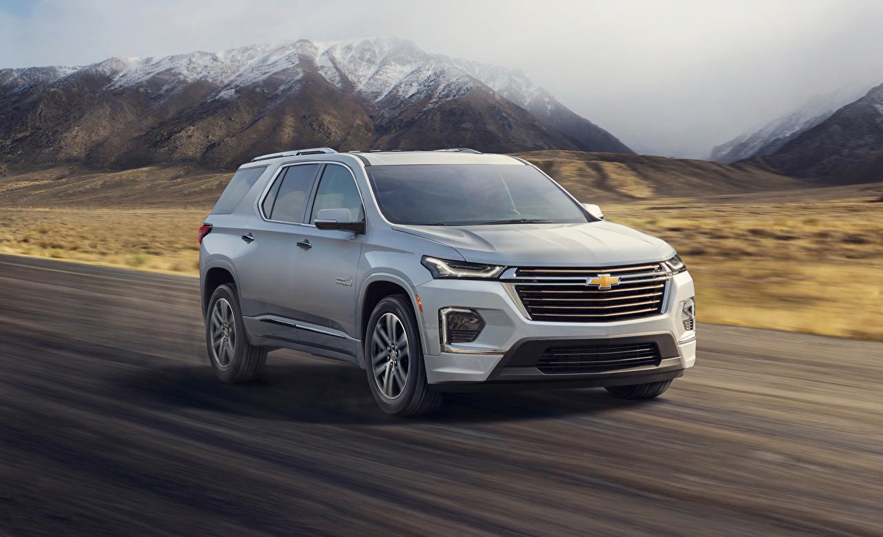 Photos Chevrolet 2021 Traverse High Country Grey automobile gray auto Cars