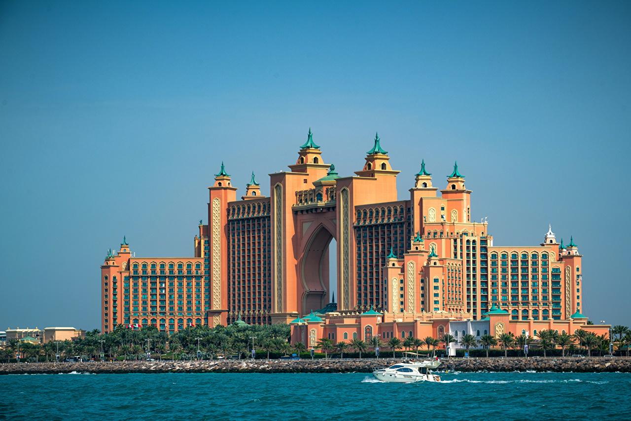 Bakgrunnsbilder til skrivebordet Dubai De forente arabiske emirater Umm Suqeim Waterfront en by Byer byen